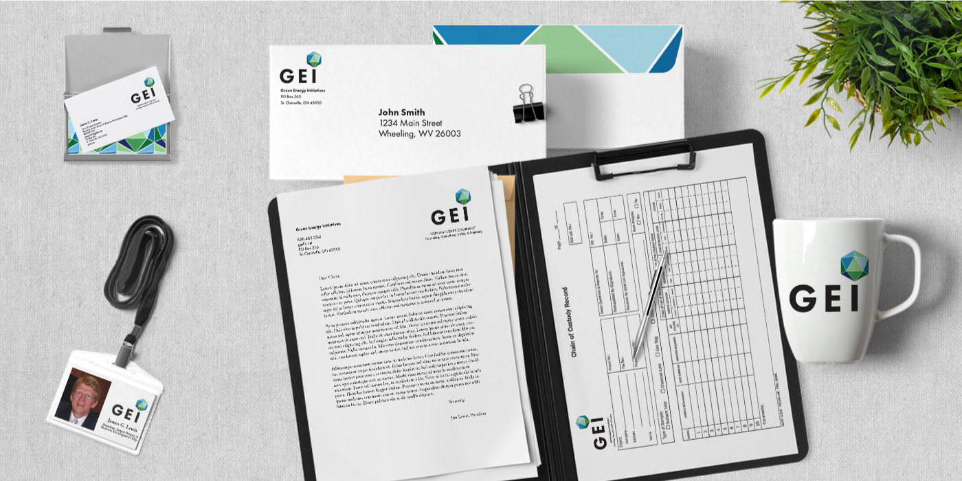 GEI office supplies mockup
