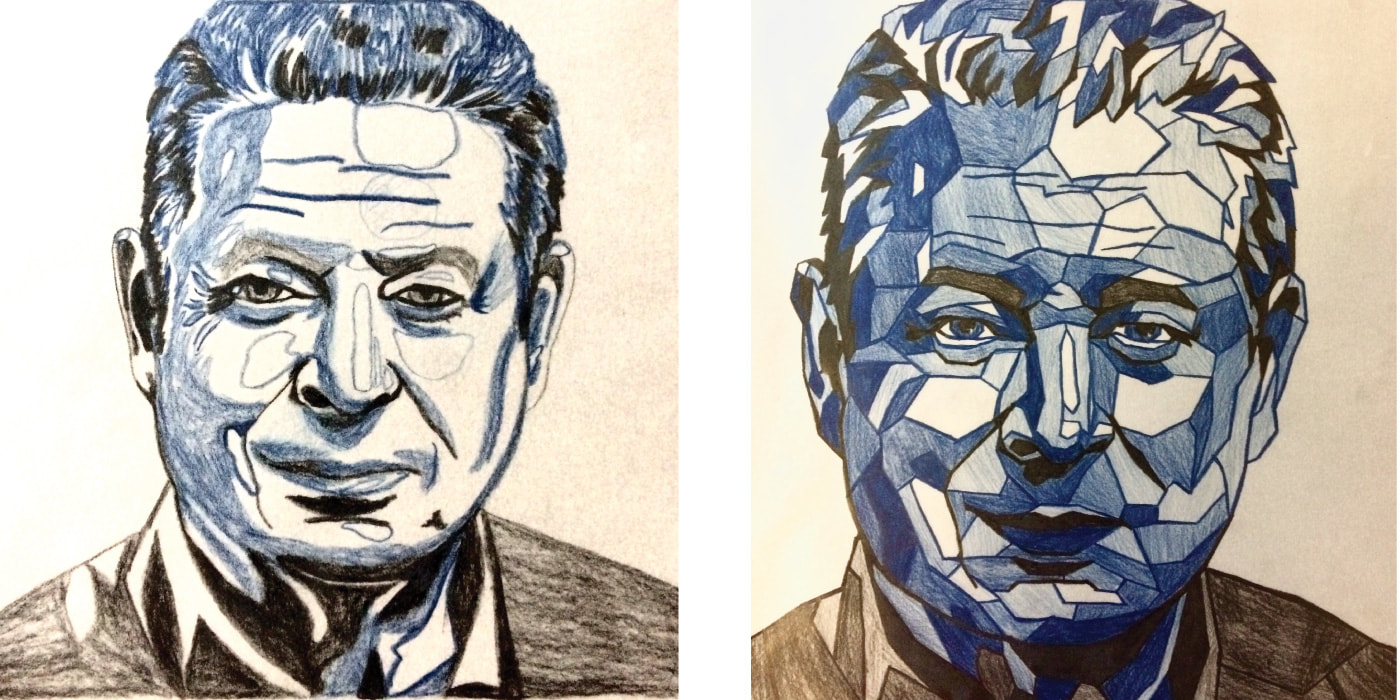 Color sketches of Al Gore